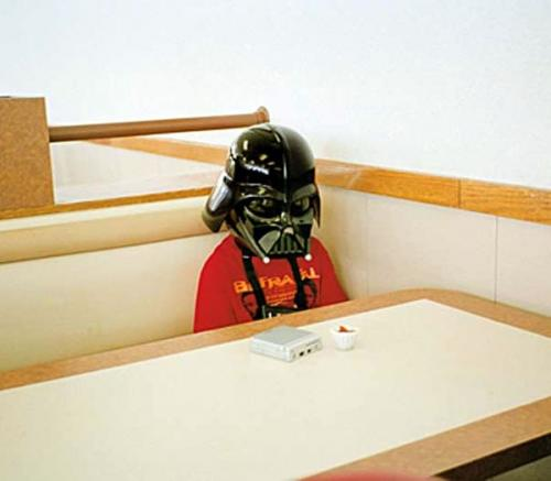 #349 - Lil' darth vader; sad, but the important thing is that he is still alive in death star bistro